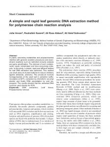 A simple and rapid leaf genomic DNA extraction method for ...