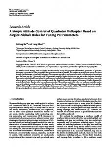 A Simple Attitude Control of Quadrotor Helicopter Based on Ziegler