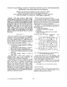 A simple control strategy applied to three-phase rectifier ... - Ivo Barbi