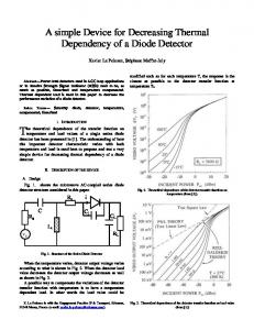 A simple Device for Decreasing Thermal Dependency ...