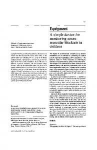 A simple device for monitoring neuromuscular blockade in children