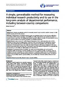 A simple, generalizable method for measuring ...