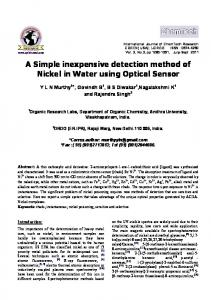 a simple inexpensive detection method of nickel in ... - Semantic Scholar
