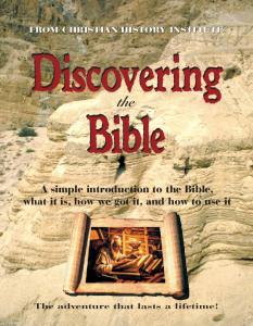 A simple introduction to the Bible, what it is, how we ... - Vision Video