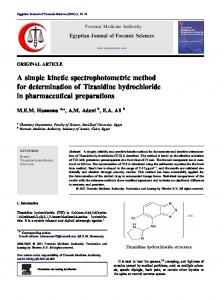 A simple kinetic spectrophotometric method for determination of ... - Core
