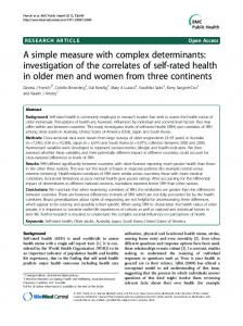 A simple measure with complex determinants ... - ScienceOpen