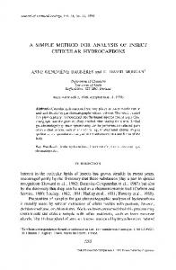 A simple method for analysis of insect cuticular ... - Springer Link