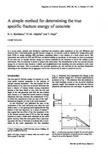 A simple method for determining the true specific fracture ... - ORCA