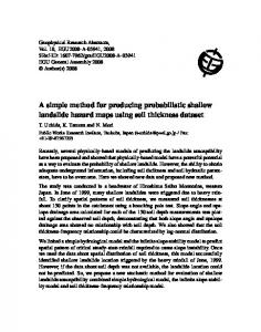 A simple method for producing probabilistic shallow