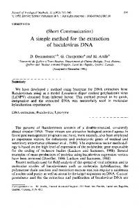 A simple method for the extraction of baculovirus DNA