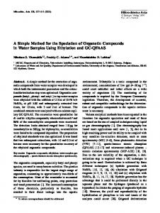 A Simple Method for the Speciation of Organotin ... - Springer Link