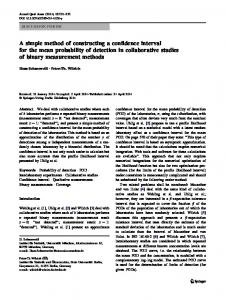 A simple method of constructing a confidence interval ... - Springer Link