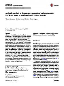 A simple method to determine evaporation and ... - Springer Link