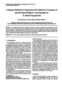A Simple Method to Determine the Dielectric