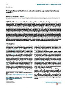 A Simple Model of Multivalent Adhesion and Its Application to ...