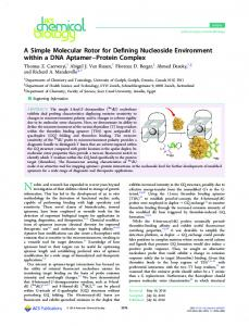 A Simple Molecular Rotor for Defining Nucleoside ... - ACS Publications