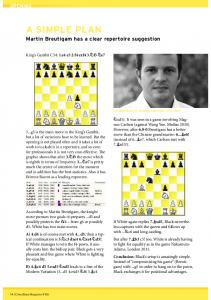 A SIMPLE PLAN - Chessbase