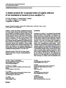 A simple protocol for cryopreservation of zygotic ... - Springer Link