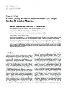 A Simple Quality Assessment Index for Stereoscopic Images Based on ...