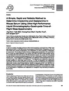 A Simple, Rapid and Reliable Method to Determine ... - Oxford Academic