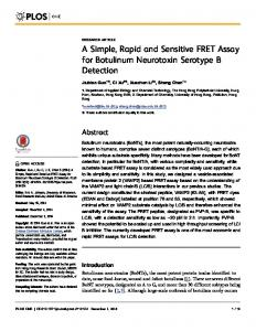 A Simple, Rapid and Sensitive FRET Assay for ... - Semantic Scholar