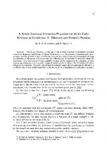 A simple statistical estimation procedure for Monte ... - Springer Link
