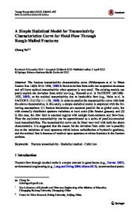 A Simple Statistical Model for Transmissivity ... - Springer Link
