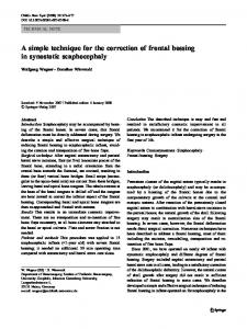 A simple technique for the correction of frontal bossing ... - Springer Link