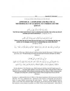 A Simplified and practical methodology of learning to ... - eMuslim