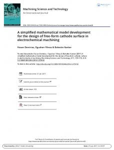 A simplified mathematical model development for the