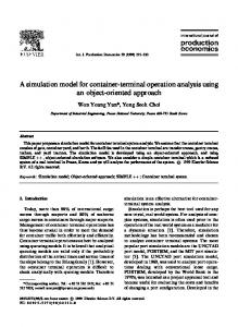 A simulation model for container-terminal operation ... - CiteSeerX