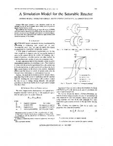 A simulation model for the saturable reactor - Industrial ... - IEEE Xplore