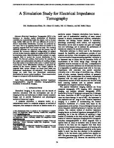 A Simulation Study for Electrical Impedance Tomography