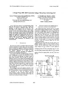 A single phase PFC 3kW converter using a three-state ... - Ivo Barbi
