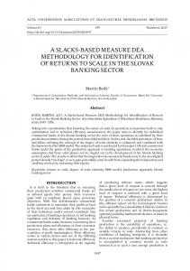a slacks-based measure dea methodology for identification of returns ...