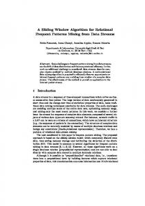 A Sliding Window Algorithm for Relational Frequent Patterns Mining ...