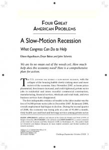 A Slow-Motion Recession