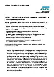 A Smart Checkpointing Scheme for Improving the Reliability of ... - MDPI