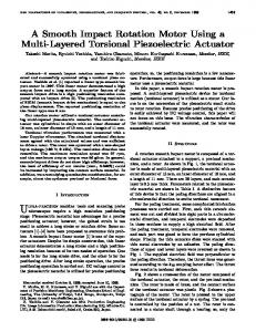 A Smooth Impact Rotation Motor Using a Multi-Layered Torsional