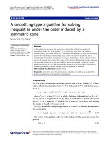 A smoothing-type algorithm for solving inequalities ... - Springer Link