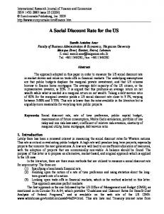 A Social Discount Rate for the US - Semantic Scholar