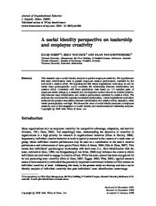 A social identity perspective on leadership and ...