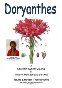 A Southern Sydney Journal of History, Heritage and the ... - Doryanthes