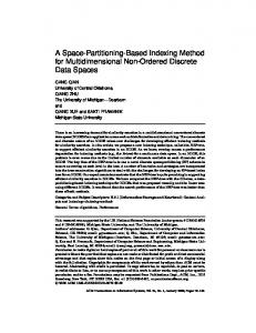 A Space-Partitioning-Based Indexing Method for Multidimentional Non