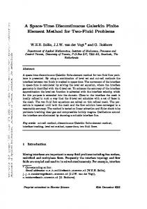 A Space-Time Discontinuous Galerkin Finite Element Method for Two ...