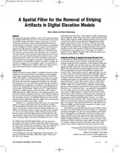 A Spatial Filter for the Removal of Striping Artifacts in ... - CiteSeerX