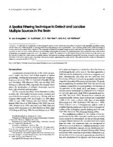A spatial filtering technique to detect and localize ... - Springer Link