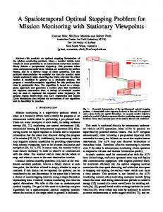 A Spatiotemporal Optimal Stopping Problem for Mission Monitoring ...