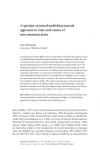 A speaker-oriented multidimensional approach to ...