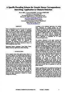 A Specific Encoding Scheme for Genetic Stereo ... - Semantic Scholar